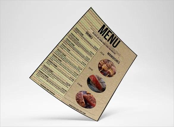 36+ Food Menu Templates \u2013 Free Sample, Example Format Download