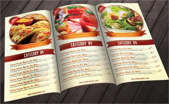 36+ Food Menu Templates \u2013 Free Sample, Example Format Download - food menu template