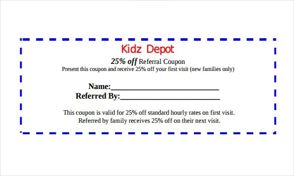 17+ Referral Coupon Templates u2013 Free Sample, Example, Format - coupon disclaimer examples