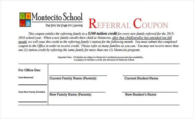 18+ Referral Coupon Templates \u2013 Free Sample, Example, Format