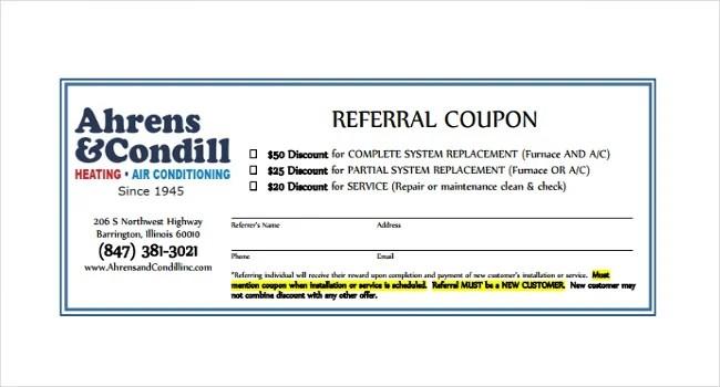 referral coupon - Romeolandinez