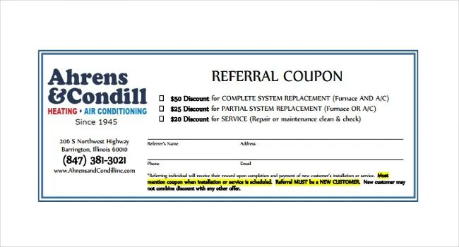 referral coupons template