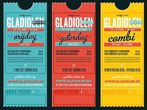 25+ Inspiring Examples of Creative Ticket Designs - PSD, AI, Word