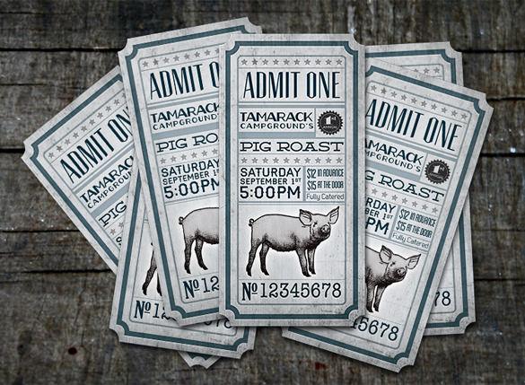 21+ Inspiring Examples of Creative Ticket Designs Free  Premium