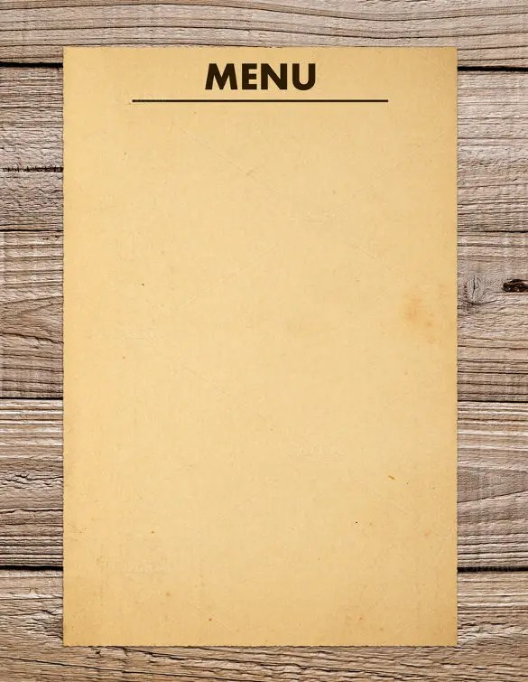 37+ Blank Menu Templates - PDF, AI, PSD, DOCS, Pages Free