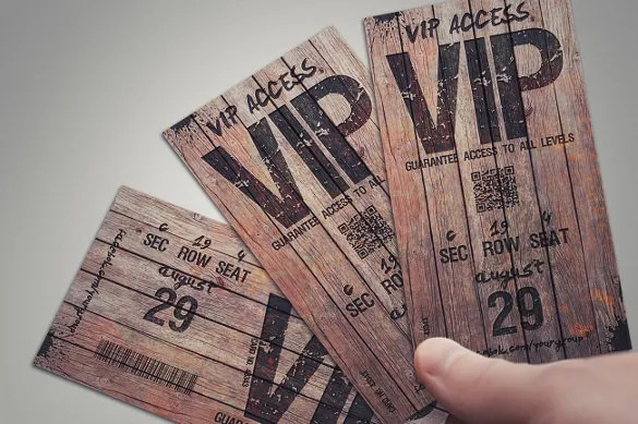 21+ Inspiring Examples of Creative Ticket Designs Free  Premium - concert tickets design