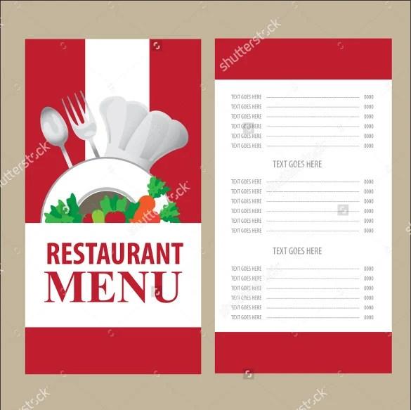 28+ Menu Card Templates u2013 Free Sample, Example Format Download - sample menu template