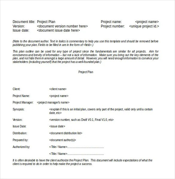 15+ Word Project Templates Free Download Free \ Premium Templates - project plan templates word