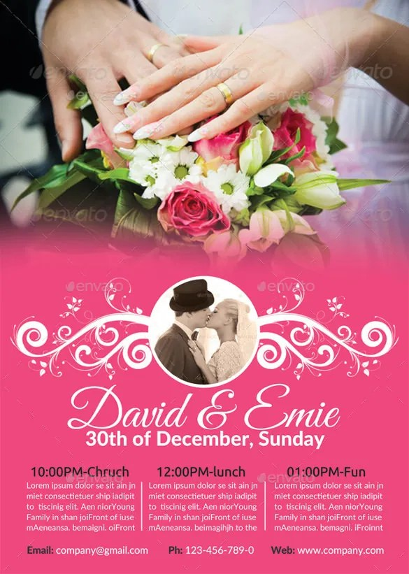 Wedding Flyer \u2013 25+ Free PSD, AI, Vector EPS Format Download Free - wedding flyer