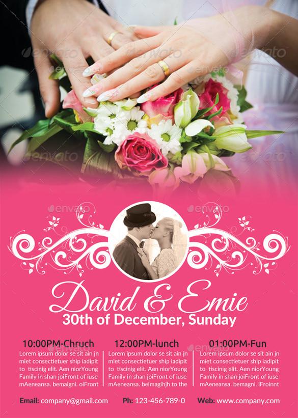 Wedding Flyer \u2013 25+ Free PSD, AI, Vector EPS Format Download Free - wedding flyer