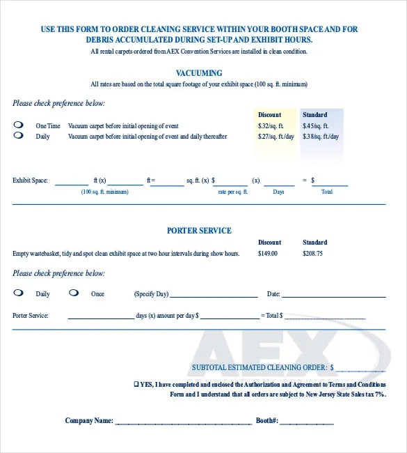 Sample Service Order Template - 19+ Free Word, Excel PDF Documents - service form in word