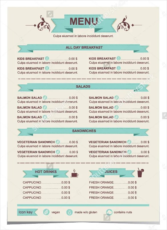 30+ Lunch Menu Templates \u2013 Free Sample, Example Format Download