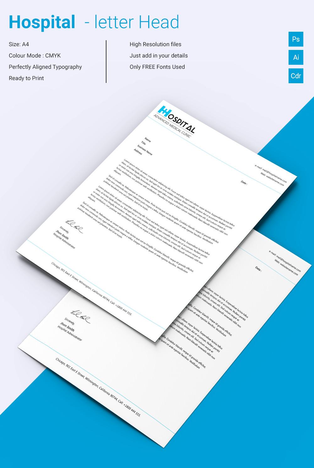22 Letterhead Design Templates Free Sample Example