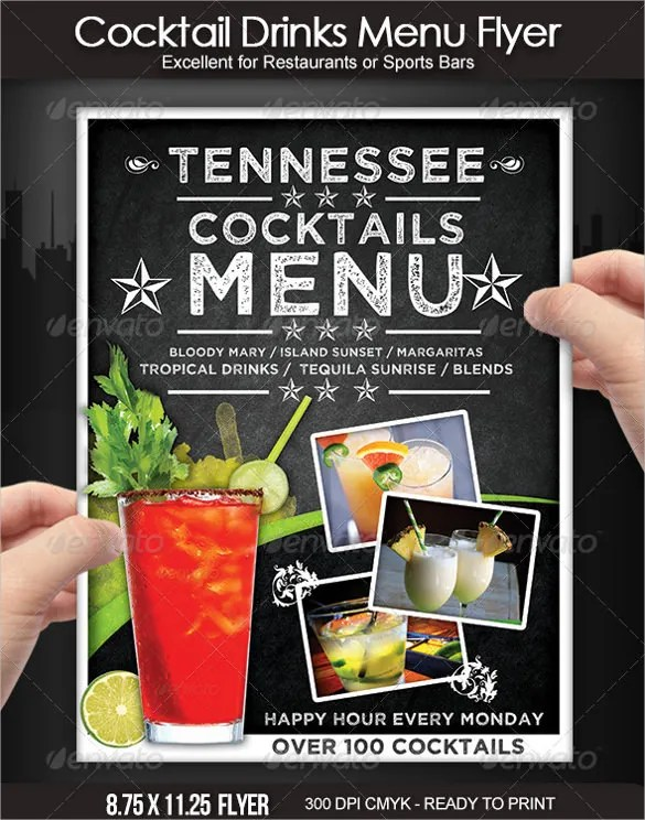 20+ Cocktail Menu Templates u2013 Free Sample, Example Format Download - sample drink menu template