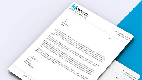 Fabulous Hospital Letterhead Template Download Free  Premium