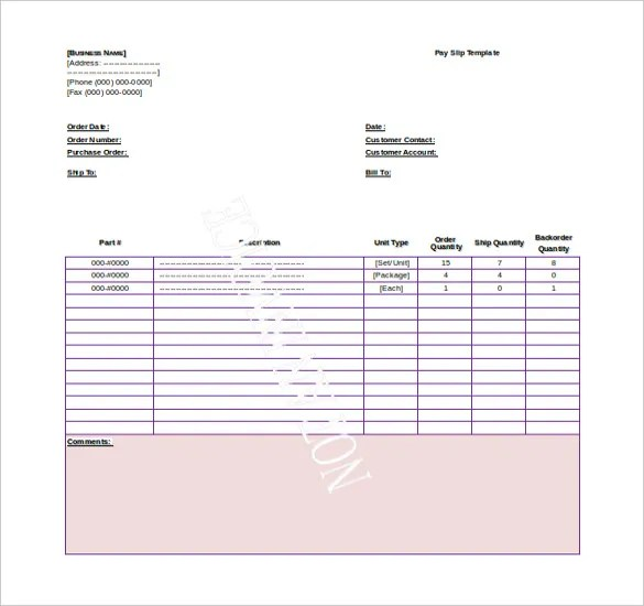 Doc1116719 Salary Slip Format for Contract Employee – Format for Contract
