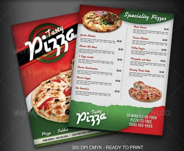 Pizza Menu Template Word - Costumepartyrun - Sample Pizza Menu Template