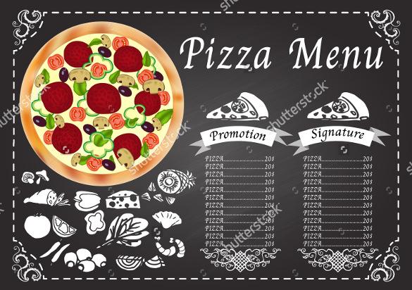 25+ Pizza Menu Templates u2013 Free Sample, Example Format Download - sample chalkboard menu template