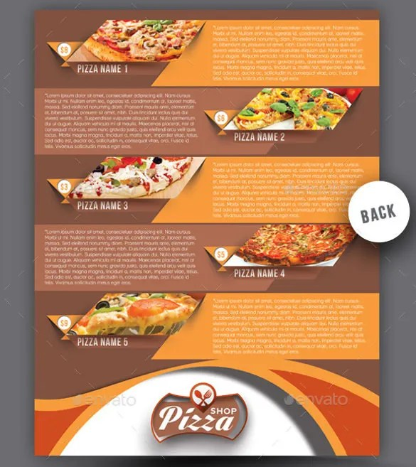 pizza shop menu template - Boatjeremyeaton - Sample Pizza Menu Template