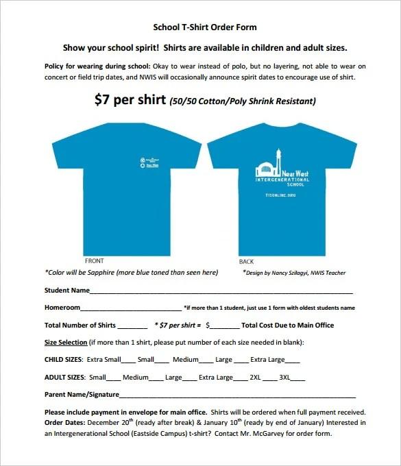 26+ T-Shirt Order Form Templates - PDF, DOC Free  Premium Templates - how to create a form template in word