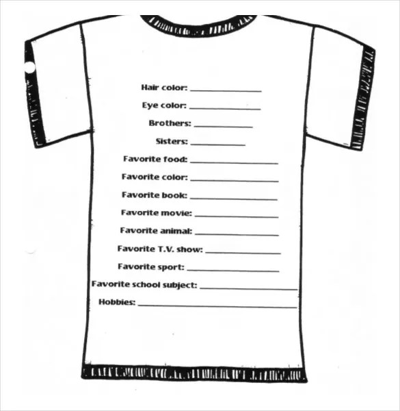 Uniform Order Form Template – T Shirt Order Forms