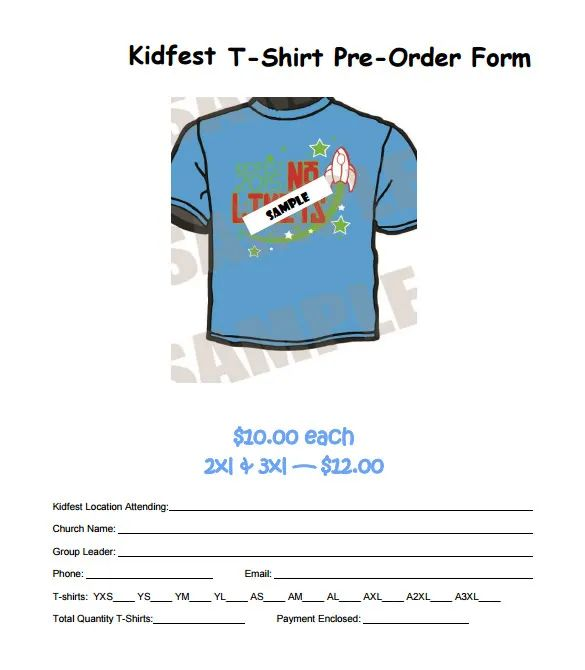 t shirt order form template word