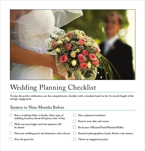 Wedding Planner Template \u2013 10+ Free Word, PDF Documents Download - wedding plan