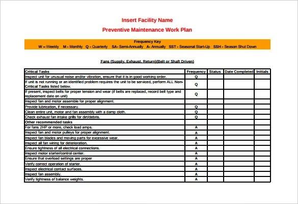 37+ Preventive Maintenance Schedule Templates - Word, Excel, PDF