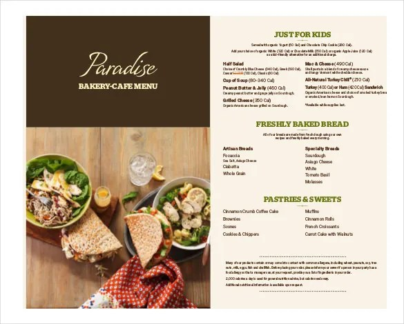 27+ Bakery Menu Templates \u2013 Free Sample, Example Format Download