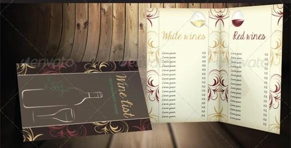 26+ Wine Menu Templates \u2013 Free Sample, Example Format Download