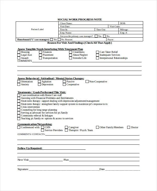 10+ Progress Note Templates - PDF, DOC Free  Premium Templates