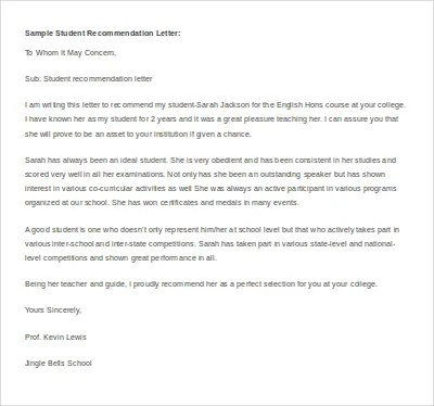 14+ Recommendation Letter Templates- Free Sample, Example, Format
