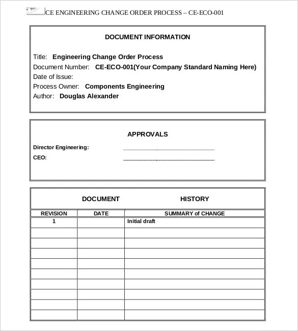 16+ Change Order Templates \u2013 Free Sample, Example, Format Download