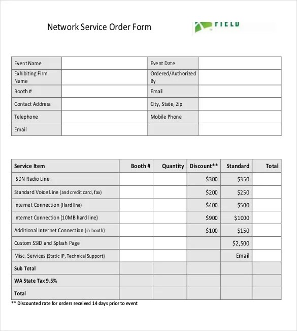 18+ Service Order Templates \u2013 Free Sample, Example, Format Download