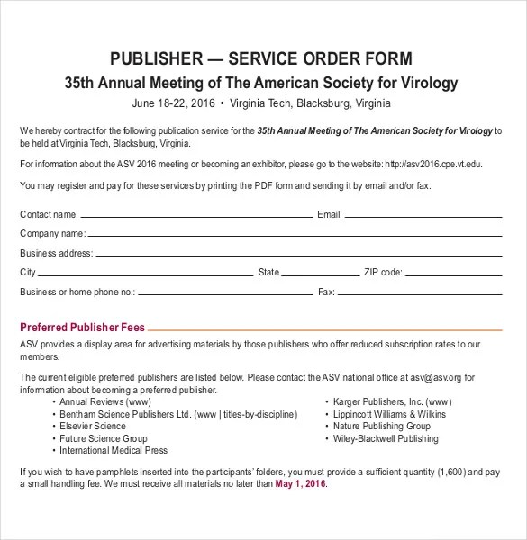 services order form template - Maggilocustdesign - company order form template