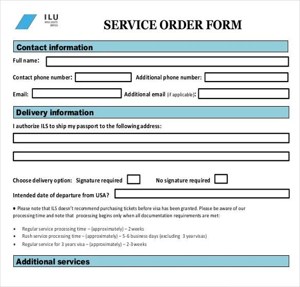 services order form - Heart.impulsar.co