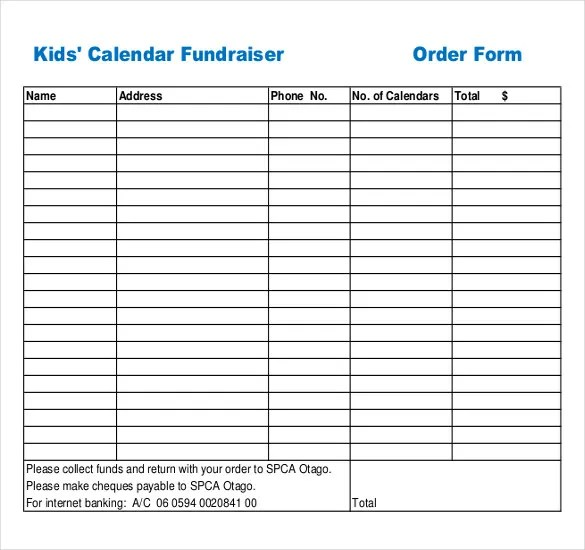 fundraiser form template free - Onwebioinnovate