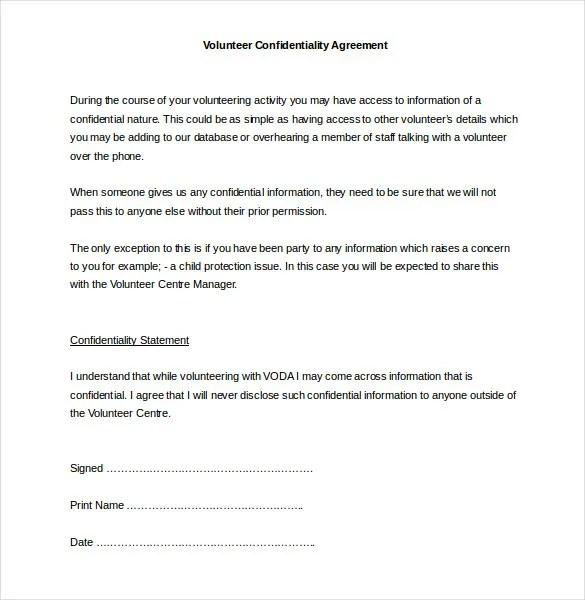 32+ Word Confidentiality Agreement Templates Free Download Free - Nda Template Word