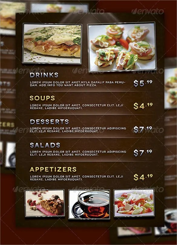 22+ Price Menu Templates u2013 Free Sample, Example Format Download - sample drink menu template