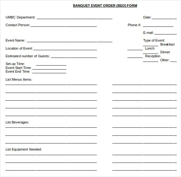 13+ Event Order Templates u2013 Free Sample, Example, Format Download - order templates free