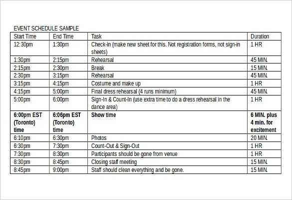 ... Event Schedule Template This Is A Perfect Event Schedule Template   Sample  Event Sign In Sheet ...