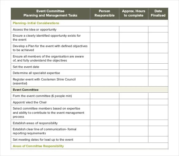 13+ Event Order Templates u2013 Free Sample, Example, Format Download - free event planner template