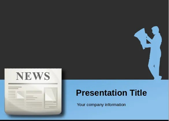 PowerPoint Newspaper Template \u2013 21+ Free PPT, PPTX, POTX Documents