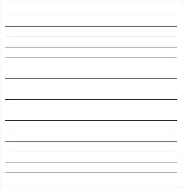14+ Word Lined paper Templates Free  Premium Templates - notepad template for word