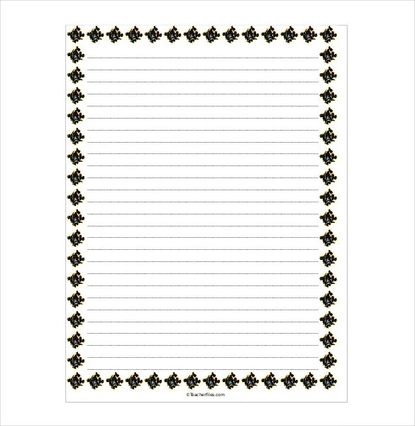 16+ Word Lined paper Templates Free Download Free \ Premium - lined border paper