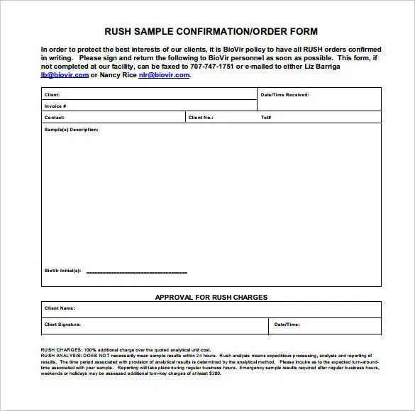 Order Confirmation Template - 29+ Free Word, Excel, PDF Document