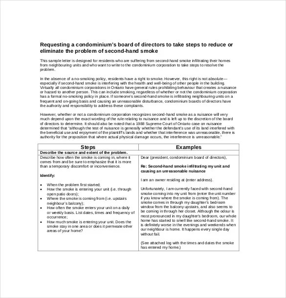 formal complaint letter templates free sample example format 15 - complaint letters template
