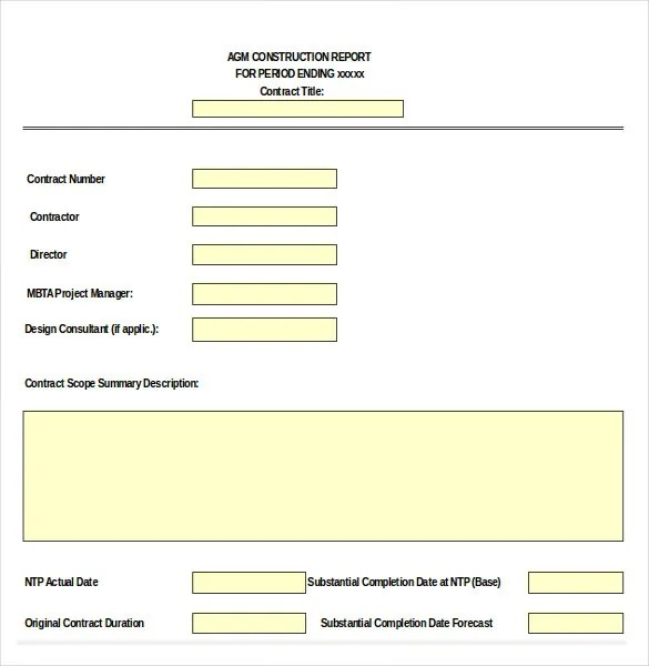 14+ Construction Order Templates u2013 Free Sample, Example, Format - contract summary template