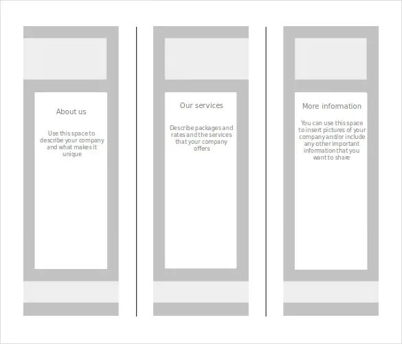 Blank Brochure Templates Insssrenterprisesco - Printable brochure templates
