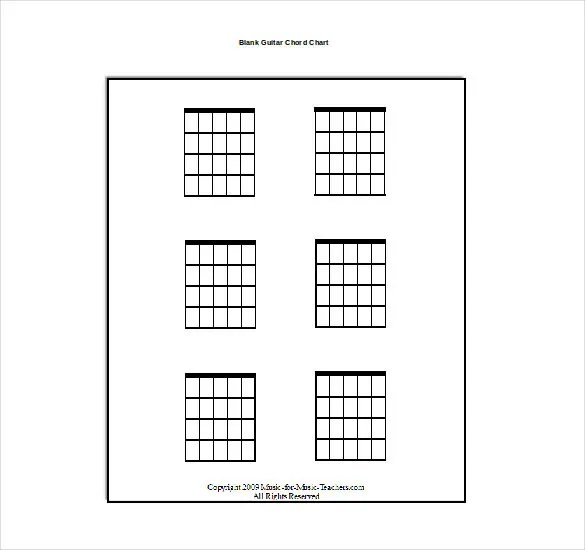 15+ Word Guitar Chord Chart Templates Free Download Free - music staff paper template